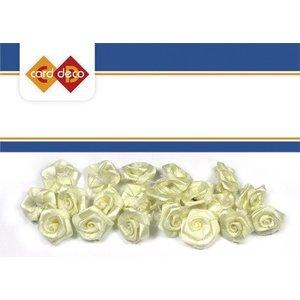Embellishments / Verzierungen 20 witte rozen