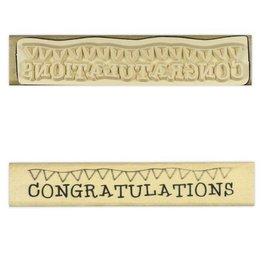 Stempel / Stamp: Holz / Wood L `Anita - bois tampon de texte