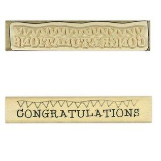 "Stempel / Stamp: Holz / Wood ""Gefeliciteerd"""