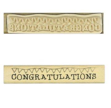 Stempel / Stamp: Holz / Wood Anita `s - hout tekststempel