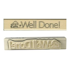 Stempel / Stamp: Holz / Wood Anita `s - wood text stamp