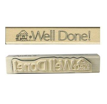 Stempel / Stamp: Holz / Wood Anita `s - legno testo timbro