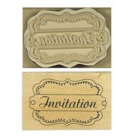 Stempel / Stamp: Holz / Wood Anita `s - hout Engels tekststempel