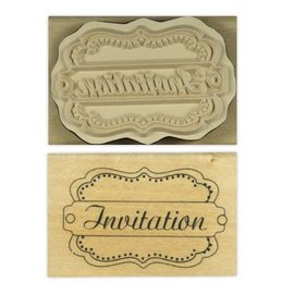 Stempel / Stamp: Holz / Wood Anita `s - legno inglese timbro testo