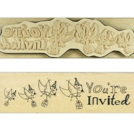 Stempel / Stamp: Holz / Wood `S Anita - Inglés wood sello en el texto