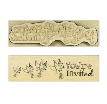 Stempel / Stamp: Holz / Wood Anita `s - træ engelske tekst stempel
