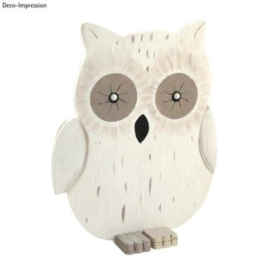 Objekten zum Dekorieren / objects for decorating Uil hout, 20x16,5x0,6 cm, 3 stuks