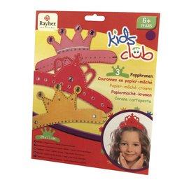 Kinder Bastelsets / Kids Craft Kits Papier maché crowns, Trio, little princess
