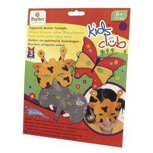 Kinder Bastelsets / Kids Craft Kits Craft Kit: papmaché masker, Trio, sjove dyr verden
