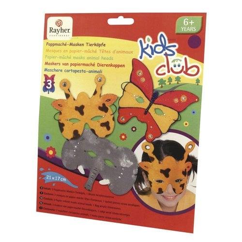 Kinder Bastelsets / Kids Craft Kits Craft Kit: papier maché masks, Trio, funny animal world