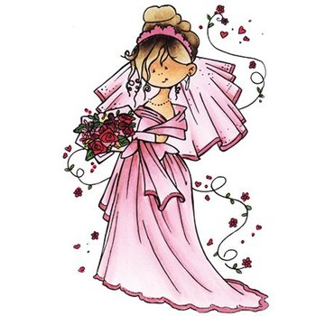 Marianne Design Transparent Stempel, Snoesje - Here comes the bride, 10,5 x 18cm