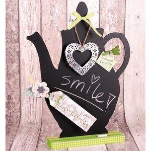 Objekten zum Dekorieren / objects for decorating MDF set with Chalkboard