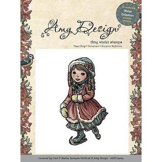 AMY DESIGN AMY DESIGN, Rubber Stempel - Skating girl