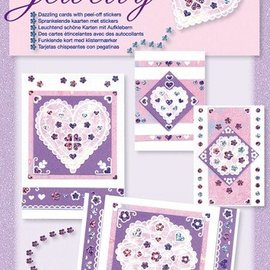 Komplett Sets / Kits NUOVI; Bastelset, insieme Jewelly floreale, brillanti bellissimi carte con adesivo