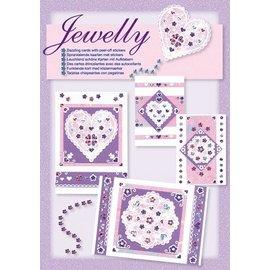 Komplett Sets / Kits NIEUW; Bastelset, Jewelly Floral set, heldere mooie kaarten met sticker