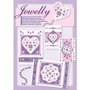 Komplett Sets / Kits NOUVEAUX; Bastelset, ensemble Jewelly floral, de belles cartes lumineuses avec autocollant