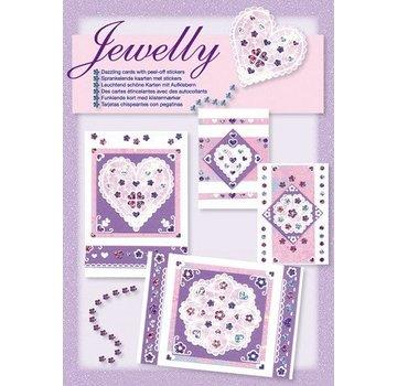 Komplett Sets / Kits NEU; Bastelset, Jewelly Floral set, leuchtend schöne karten mit Sticker