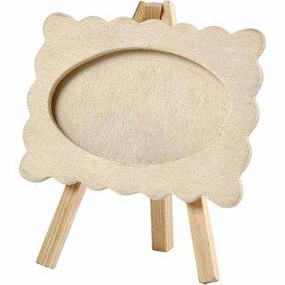 Objekten zum Dekorieren / objects for decorating Rahmen auf einer Staffelei, Größe 13,2x11,5 cm. aus Holz