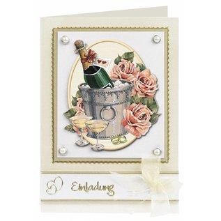 3D-Stanzbogen Hochzeit, Verlobung