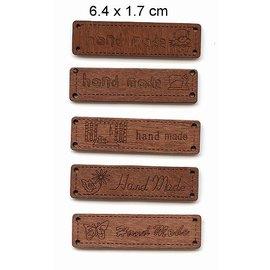 Embellishments / Verzierungen étiquettes avec du texte - la main -, taille 6,4 x 1,7 cm