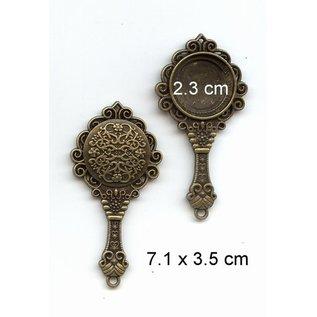 Embellishments / Verzierungen 1 Vintage specchio telaio