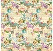 """Designer Papier Scrapbooking: 30,5 x 30,5 cm Papier NUOVO: Grande carta Designer, """"sentimenti dolci"""", 1 foglio 30,5 x 30,5cm"""