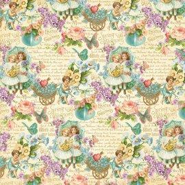 """GRAPHIC 45 NUEVO: Gran papel Diseñador, """"sentimientos dulces"""", 1 hoja 30,5 x 30,5cm"""