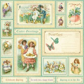 "GRAPHIC 45 Designerpapier,"" sweet Sentiments, Spring is in the aer"", 1 Blatt 30,5 x 30,5cm"