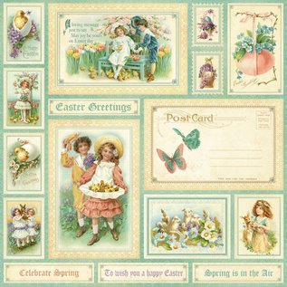 """GRAPHIC 45 Designer paper, """"sweet Sentiments, Spring is in the aer"""", 1 sheet 30.5 x 30.5cm"""