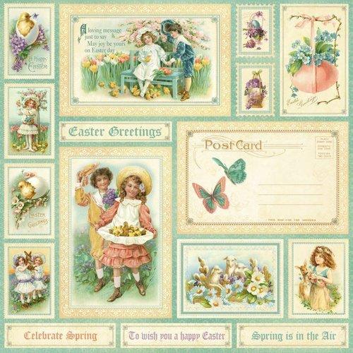 """Designer Papier Scrapbooking: 30,5 x 30,5 cm Papier NOUVEAU: Grande papier Designer, """"sentiment doux, printemps est dans l'aer"""", une feuille de 30,5 x 30,5 cm"""
