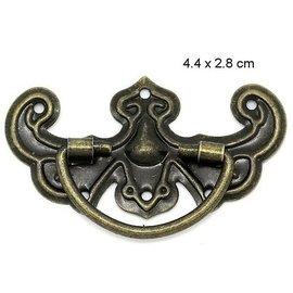 Embellishments / Verzierungen Scrapbook metió la mano en metal, de 5 piezas