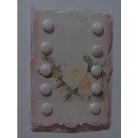 Embellishments / Verzierungen 10 Glitter clavitos, 10 mm