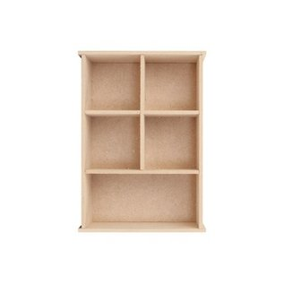 Objekten zum Dekorieren / objects for decorating Collector doos, 149 x 54 x 210 mm, 5 raampje