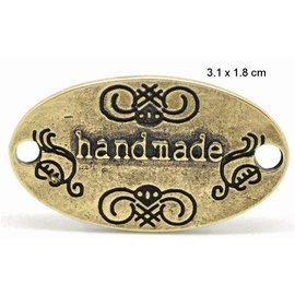 "Embellishments / Verzierungen NEU: ""Handmade"" 4 Labels in metal"