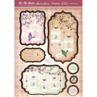 """BASTELSETS / CRAFT KITS Luksus Craft Kit card design """"Birdie Dreams"""" (begrænset)"""