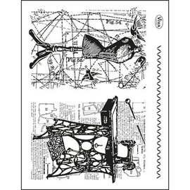 VIVA DEKOR (MY PAPERWORLD) Tema transparente sellos: Costura