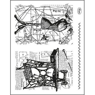 VIVA DEKOR (MY PAPERWORLD) Trasparente francobolli Topic: cucito