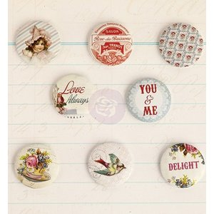 Prima Marketing und Petaloo 8 nostalgic buttons