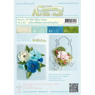Leane Creatief - Lea'bilities und By Lene To make fancy paper for flowers, 16 sheets of A5