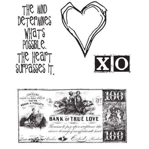 Tim Holtz Tim Holtz, rubber stamps, 4 designs
