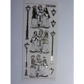STICKER / AUTOCOLLANT Dekorative klistremerke, preget i stor detalj, 10 x 23cm.