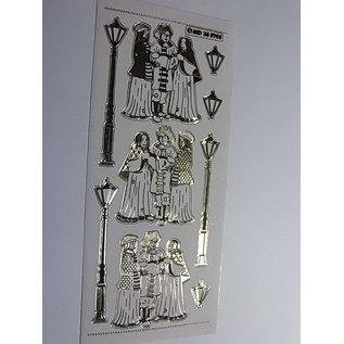 STICKER / AUTOCOLLANT Decoratieve sticker, reliëf in groot detail, 10 x 23cm.