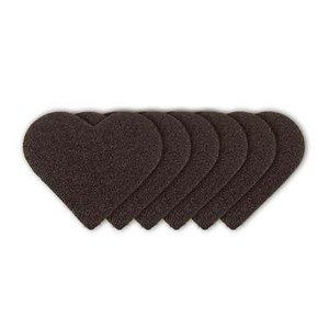 """FARBE / STEMPELKISSEN Schrijnend apparaat, """"hartaanval"""" + 3 stuks van schuurpapier in de vorm van harde"""