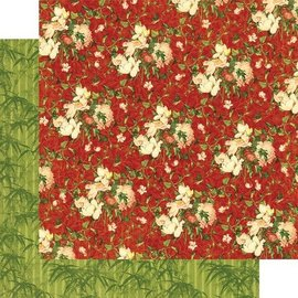 Designer Papier Scrapbooking: 30,5 x 30,5 cm Papier Pretty Bird Song Paper Harmony, 30.5 x 30.5 cm.