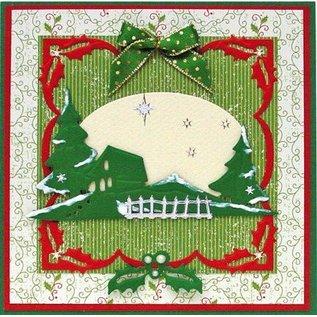 Leane Creatief - Lea'bilities und By Lene Stansen en embossingstencils Kerstmis Borders.