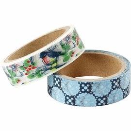 Komplett Sets / Kits Self-adhesive washi tape / paper tape with a matt surface in Vivi Gade design