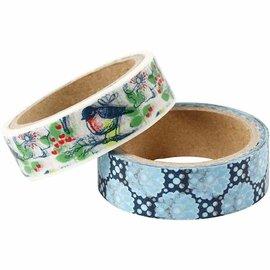 Komplett Sets / Kits Zelfklevende washi-tape / papieren tape met een mat oppervlak in Vivi Gade-design