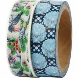 Komplett Sets / Kits Ruban adhésif washi / ruban en papier avec une surface mate au design Vivi Gade