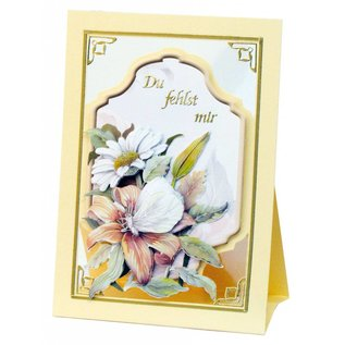 BASTELSETS / CRAFT KITS Compleet Bastelset, NoteCards Staf Wesenbeek, Set 1 bloemen met vlinders
