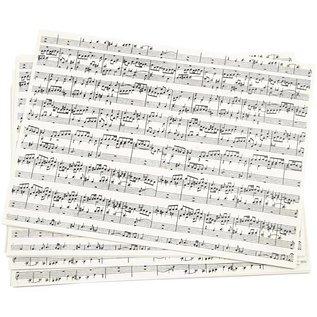 Karten und Scrapbooking Papier, Papier blöcke Kraft paper, A4, music notes, 5 sheets